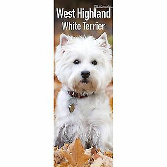 Otter House 2021 Slim Calendar-west Highland White Terrier