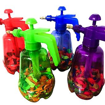 300 Pcs Innovative Water Balloon- Portable Filling Station 3 In 1 Pump Bottle