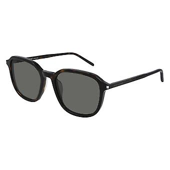 Saint Laurent SL 385 002 Havana/Grey Sunglasses