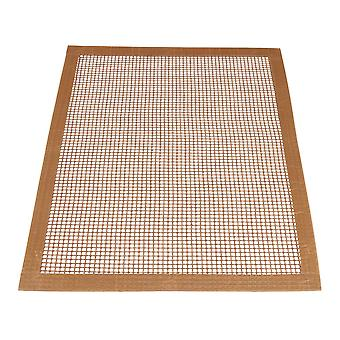 Brown Hemming Barbecue Grill Grid Mats 33x40cm