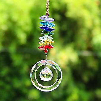 Multicolor Crystals Beads Clear Chandelier Crystals Pendants Hanging Ornament Suncatcher Prisms For Garden Decor Accessories