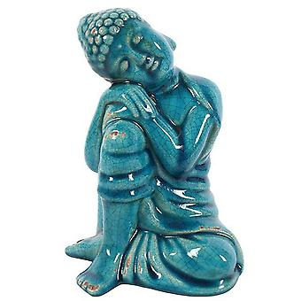 Something Different Blue Ceramic Thai Buddha Statue