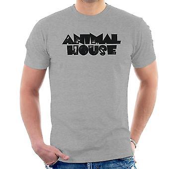 Animal House Negro Logo Hombres's Camiseta