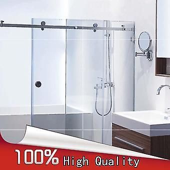 Douche de salle de bains sans cadre en acier inoxydable 1 set, matériel de porte coulissante