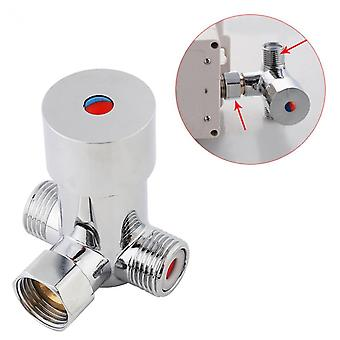 G1/2 Hot Cold Water Mixing Valve,valver Thermostatic Mixer Adjustable
