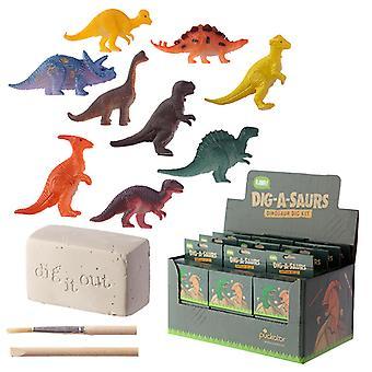 Spaß Ausgrabung Graben Sie es aus Kit - Dinosaurier X 1 Pack