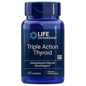 Life Extension Triple Action Thyroid, 60 Caps