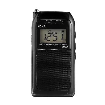 Portable FM MW SW Radio LED Display Speaker MP3 Music Player