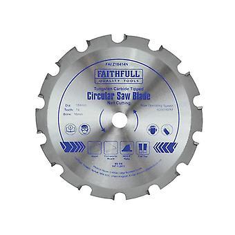 Faithfull Kreissäge 184 x 16mm x 14T Nagelschneiden NEG FAIZ18414N