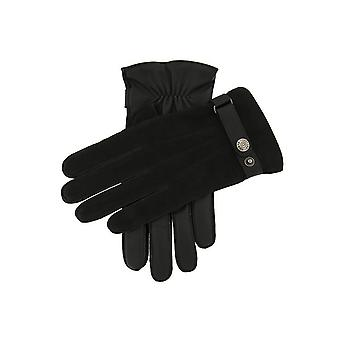 Men's Wool Lined Nubuck & Leather Gloves