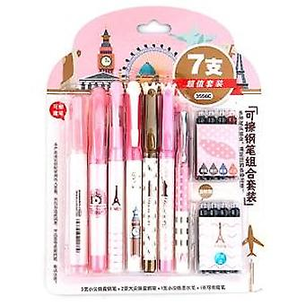 Business Erasable Fountain Pen, Refills With Ink Sac