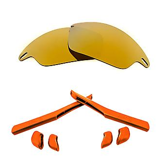 Replacement Lenses & Kit for Oakley Fast Jacket Gold Mirror & Red Anti-Scratch Anti-Glare UV400 by SeekOptics