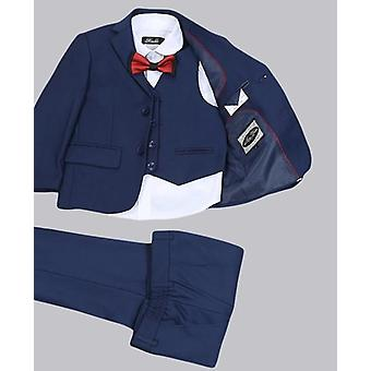 Solid Navy Blue Wedding Suit Formal Suit For Kids Wedding Suits