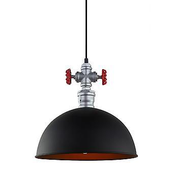 Italux Dew - Industrie und Retro hängen Anhänger schwarz 1 Licht, E27