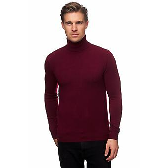 Män Turtle Neck Jumper Grundläggande tröja Rollneck Shirt Topp Bodywarmer Slim Fit Stretch