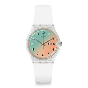 Swatch Ge720 Ultrasoleil branco & Sand silicone Watch