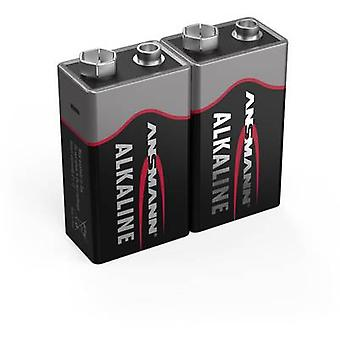 Ansmann 6LR61 Red-Line 9 V / PP3 battery Alkali-manganese 9 V 2 pc(s)