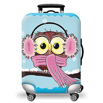 Colorful  Luggage Protector Owl
