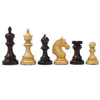 El Garvi 4 pulgadas piezas de ajedrez de palisandro