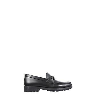 Salvatore Ferragamo 67179202a515 Männer's Schwarzes Leder Loafers