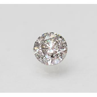 Cert 0.72 Carat Fancy Silver SI2 Round Brilliant Enhanced Natural Diamond 5.51mm