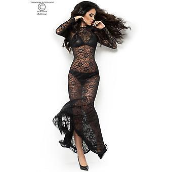 فستان طويل الدانتيل CR4049 حجم أسود: S