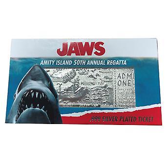 Jaws Amity Island 50th Annual Regatta Limited Edition Silver Plated Ticket