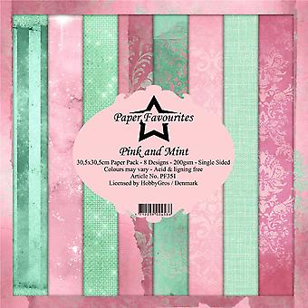 Paper Favourites Pink and Mint 12x12 Inch Paper Pack