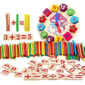 Uhr Spielzeug bunte Bambus Zählen Sticks Mathematik Montessori Lehrmittel zählen Rod Kinder Vorschule Mathe lernen Spielzeug