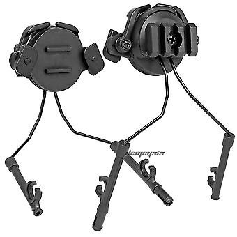 Helmet Rail Adapter Set, Military Tactical Headset Holder, Hunting, Shooting,