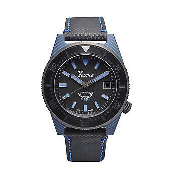 Squale T183BL 600 Meter Swiss Automatic Dive Wristwatch Carbon Fibre