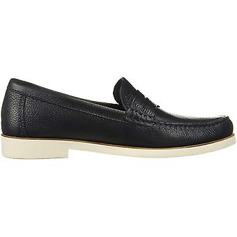 Driver Club USA Men's Leather Made in Brazil Rubber Sole Penny Loafer