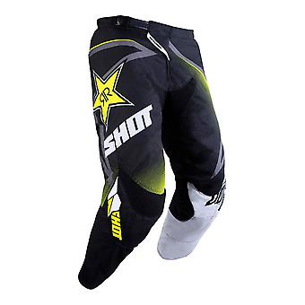 Shot Contact Rockstar Black Adults MX Pants