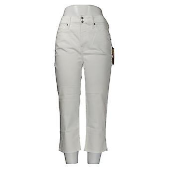 NYDJ Women's Jeans Cool Embrace Skinny Crop with Side Slits White A377695