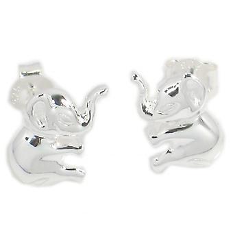 Elephant Sterling Silver Stud Oorbellen .925 X 1 Paar Olifanten