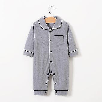 Vêtements pour bébés, full sleeve Solid Rompers Cotton Casual Sleepwear