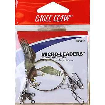 "Eagle Claw 8"" Wire Micro-Leaders with Crane Swivel 3-Pack"