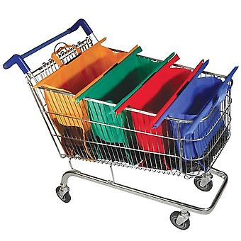 Thicken cart trolley supermarket shopping grocery grab storage bags 4pcs/set