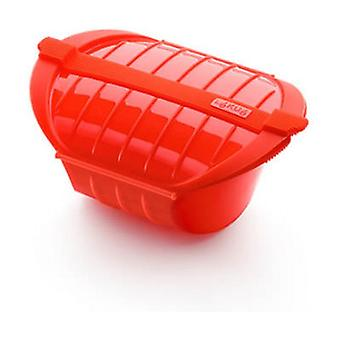 Deep steam case 1-2 people Red 212x155x85 mm
