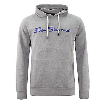 Ben Sherman Mens Hoodie Jumper Sweatshirt Grey 0060888G-GRY