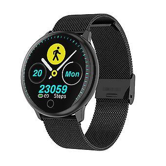 Smart-Uhr für unisex Sport mit wasserdichten Schrittzähler Kalorien Fitness Aktivität Tracker für Android iOS Black1