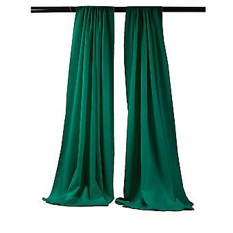 La Leinen Pack-2 Polyester Poplin Hintergrund Drape 96-Zoll breit von 58-Zoll hoch, Petrol