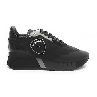 Shoes Blauer Sneaker Running Mod. Myrtle Ecopelle/ Mesh Black D21bu02