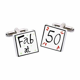Fab at 50 Cufflinks par Sonia Spencer