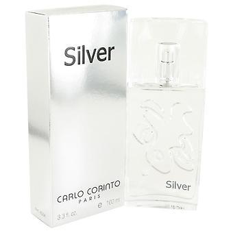 Carlo Corinto Silver Eau De Toilette Spray By Carlo Corinto 3.4 oz Eau De Toilette Spray