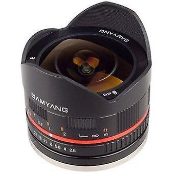 Samyang 8mm f2.8 umc fisheye ii (black) lens for sony e-mount (nex) cameras (sy8mbk28-e)