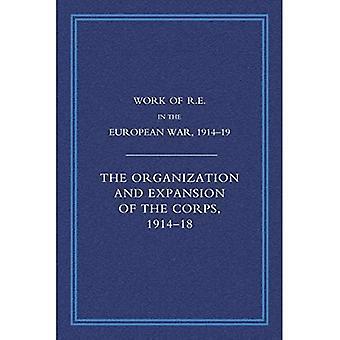 Kuninkaallisten insinöörien työ Euroopan sodassa 1914-1918: Organisaatio ja laajennus, jos joukot 1914-1918