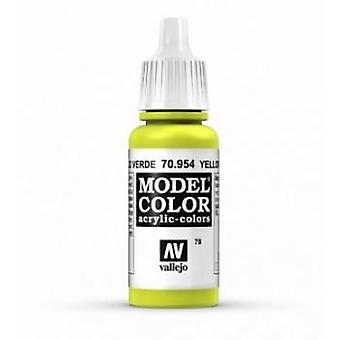 Vallejo Model Color 17ml Acrylic Paint - 954 Yellow Green