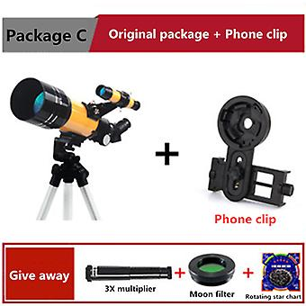Hot-selling 70300 astronomical telescope high-quality professional stargazing high-definition high-power telescope