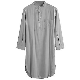 Allthemen Men's Hood One-piece Sleepshirt Cotton Nightshirt Soft Sleepwear Plain Nightgown Pajamas